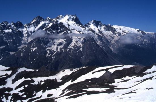 Au sommet du Pic Blanc du Galibier (Massif de la Meije)