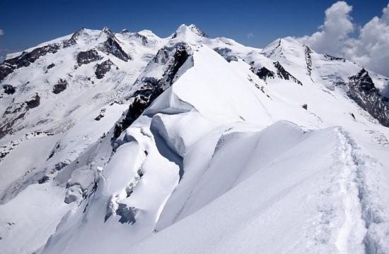 Sur le sommet W du Breithorn
