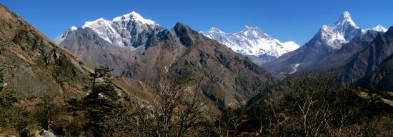 Vue panoramique sur le Khumbu