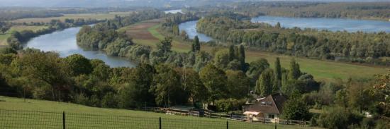 Les boucles de la Seine à l'approche de Vétheuil