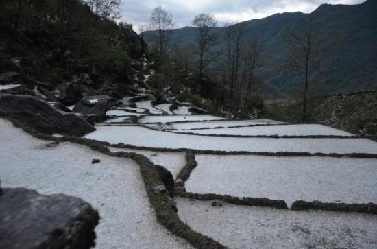 Après une sévère tempête de grêle du côté de Bhujung
