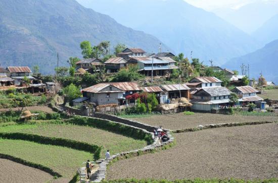 Le village de Sikle entre Galegaon et Khudi