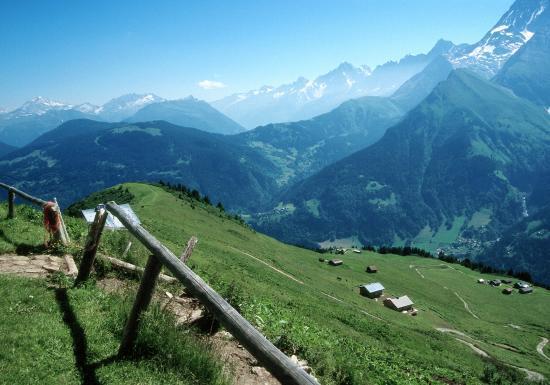 Descente sur les Contamines par le Mont d'Arbois
