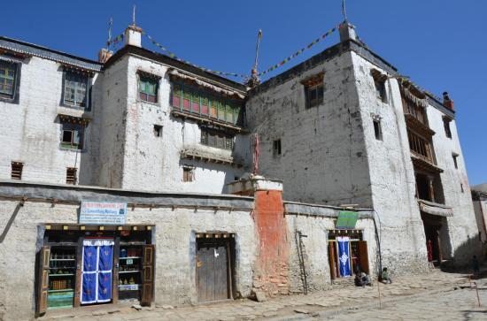 Le Royal Palace sur la place centrale de Lo Monthang