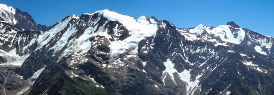 Les Dômes de Miage vus depuis les crêtes du Mont Joly