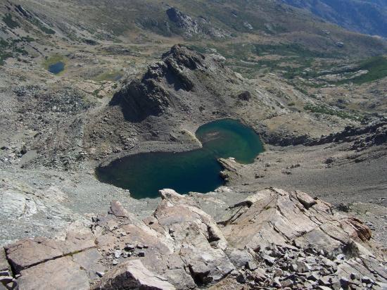 Le lac Maggiore vu du sommet du Capu a u Verdatu