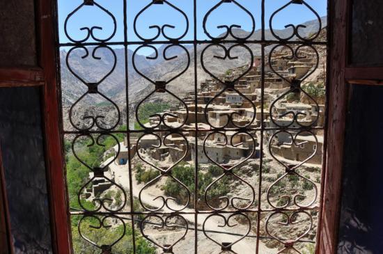 Le village de Tannamert vu depuis une fenêtre de la maison de Mohamed