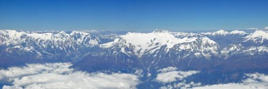 Le massif de l'Annapurna vu d'avion
