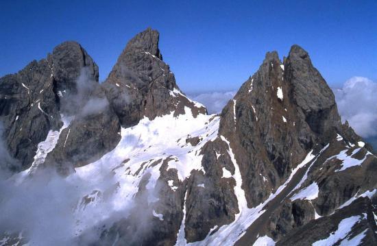 Les Aiguilles d'Arves vues depuis l'Aiguille de l'Epaisseur