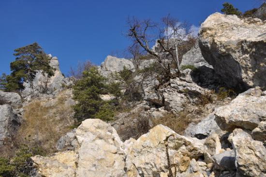 Dans le chaos rocheux entre pallaire et le col d'Anès