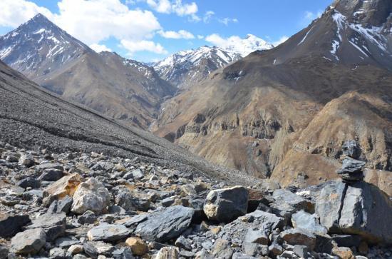 Le long de la vallée de la  Yak khola