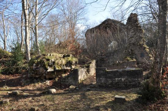 Les ruines de l'église Saint-Médard (ancien monastère)