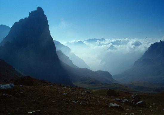 Le Grand Séru vu depuis le sentier d'ascension du Mont Thabor