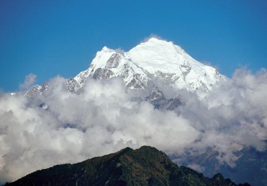 Vue sur le Langtang Lirung (7206m)
