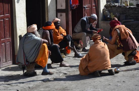 Pélerins hindouistes à Muktinath