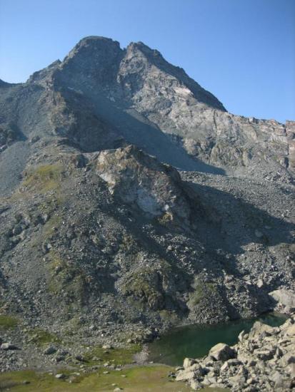 Le Monte Granero vu du chemin du col Manzol