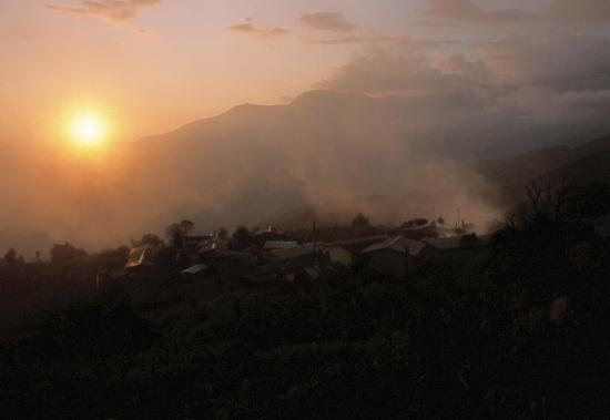 Coucher de soleil à Sermathang