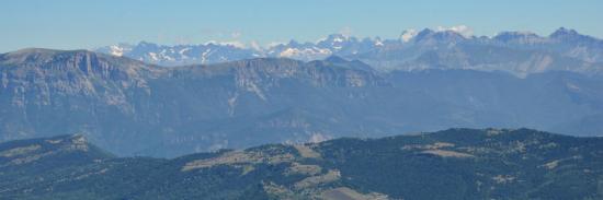 Panorama sur l'Oisans depuis le sommet du Veyou (Trois Becs)