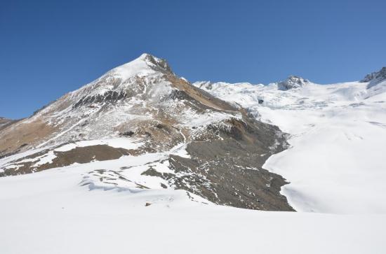Les montagnes du Muktinath himal depuis l'Eastern Pass (5345m)