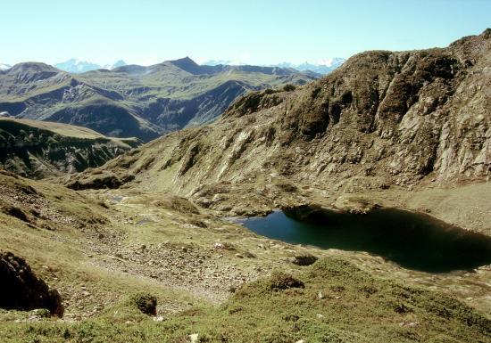 Les lacs de la Tempête depuis le sentier du Grand Mont
