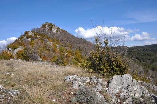 Sur les crêtes de la montagne de Gavet à l'approche de la Butte de l'Aigle