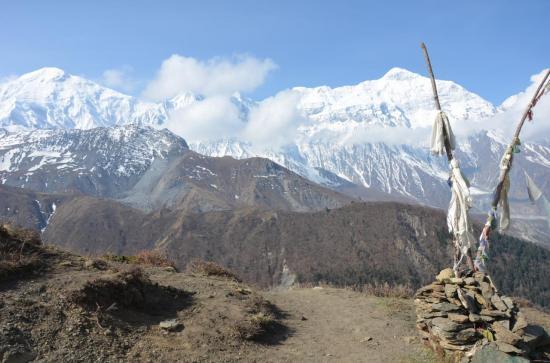 Après Chaurikharka, la descente douce vers Jomosom