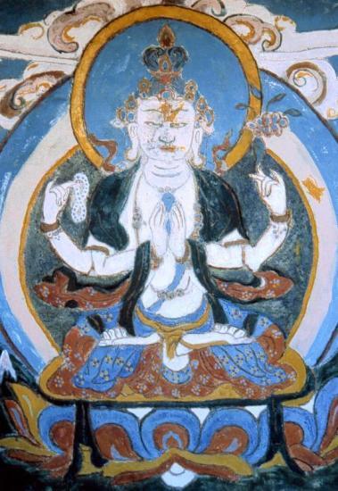 Blue Boudha à Ghul bhanjyang