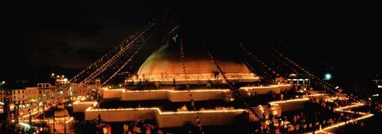 Fête des lumières à Bodnath
