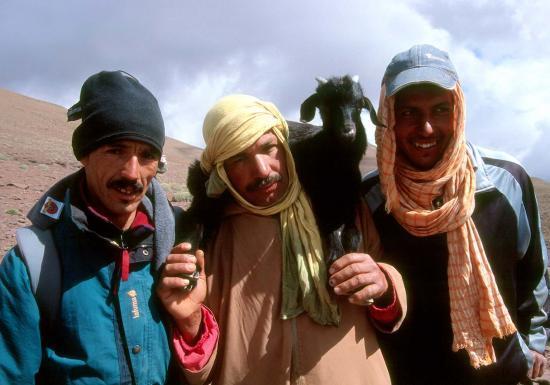 Mohamed (guide), Abdou et Moktar (muletiers-cuisiniers)
