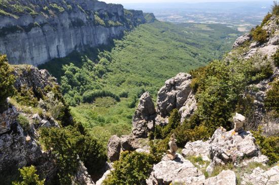 Départ du couloir de descente du rocher de la Tournelle