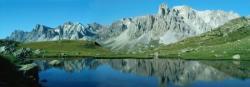 La Main de Crépin depuis les rives du Lac Long (Vallée de Névache)