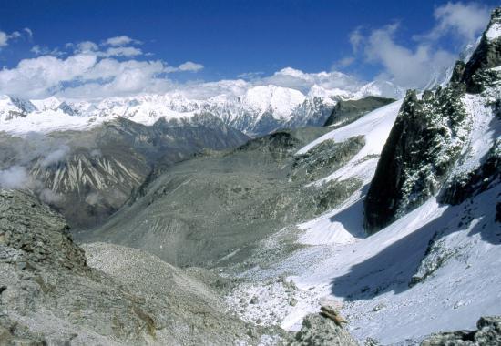 Au Ganja La, le versant N côté Langtang
