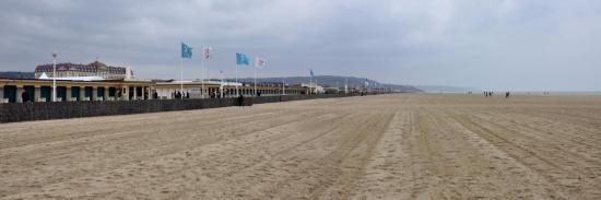 La plage de Deauville hors saison...