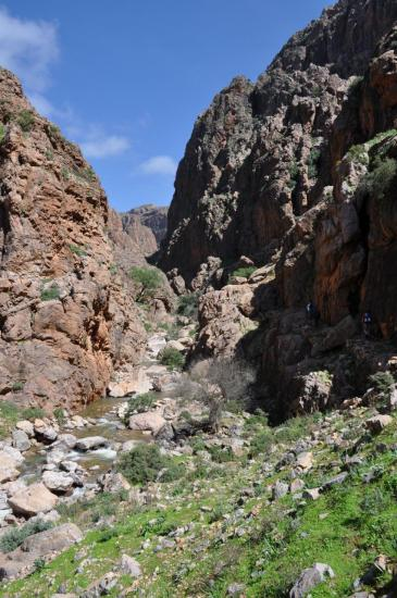 Canyon entre Targa n'Touchka et Tagdichte