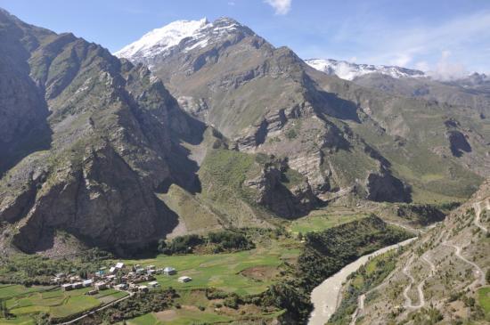 Les paysages de l'Himachal Pradesh entre Darsha et Koksa