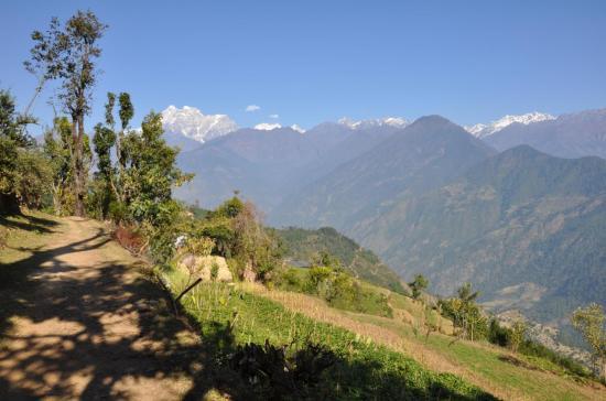 Le Gaurisankar vu du col entre Laduk et Bulung