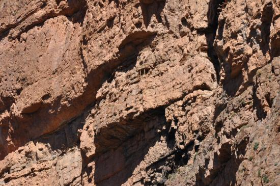 Assif Melloul : Grenier à blé creusé dans la falaise