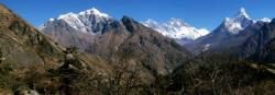 Panorama sur le Khumbu depuis Khumjung