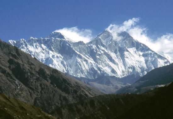 L'Everest et le Lhotse depuis la montée de Namche Bazar