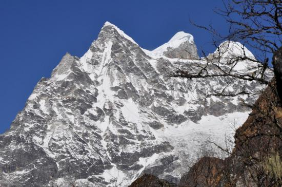 Le Gaurisankar vu dans la descente vers Beding