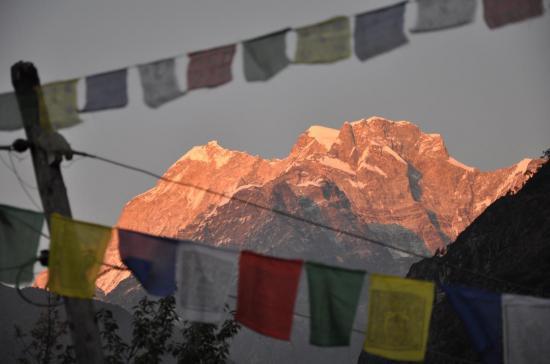 Coucher de soleil sur le Gaurisankar