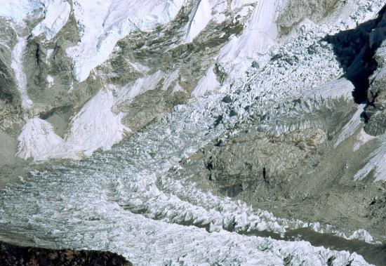 L'icefall au camp de base de l'Everest