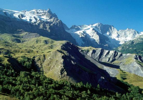 Le massif de la Meije depuis le Chazelet