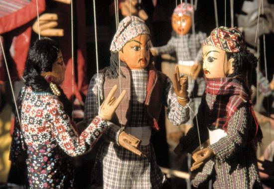 Marionnettes sur Durbar Square de Katmandu