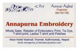 Annapurna embroidery