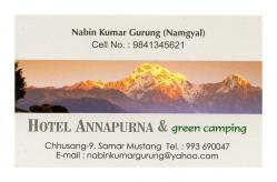 Hotel Annapurna - Samar (Mustang - Nepal)
