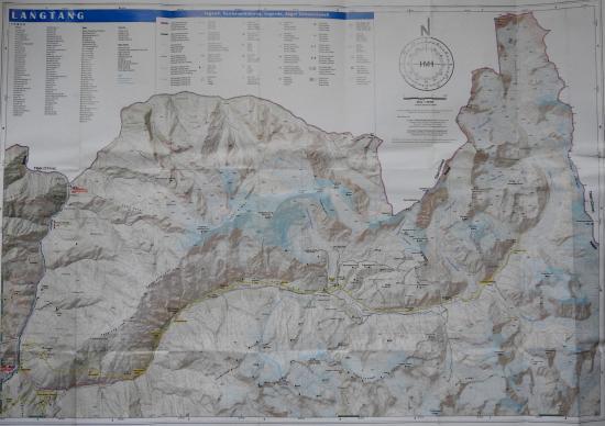 Carte langtang cl819 apres seismes