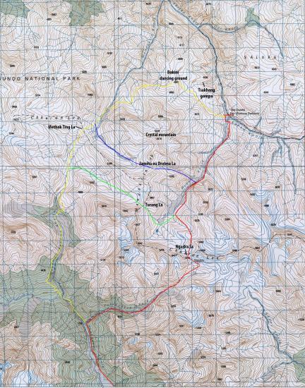 Cols Shey gompa (carte finlandaise)