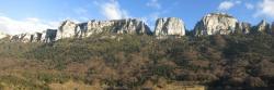Les falaises de la combe d'Oyans