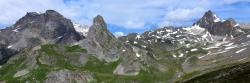 La combe du Grand Lac vue depuis le col de l'Aiguillette